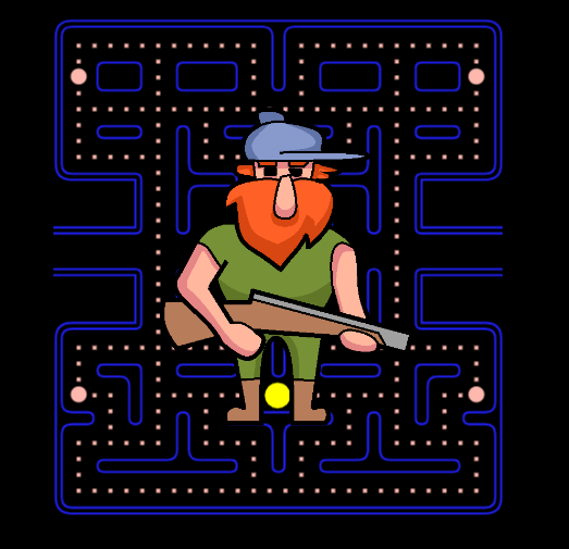 Hunterman Pacman Game